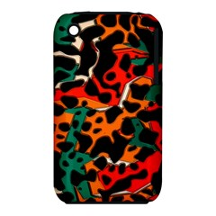 Metallic shapes in retro colors                                                                                     			Apple iPhone 3G/3GS Hardshell Case (PC+Silicone)