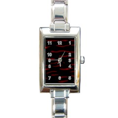 Red and black Rectangle Italian Charm Watch