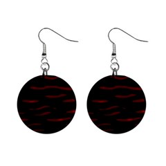Red and black Mini Button Earrings