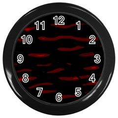 Red and black Wall Clocks (Black)