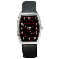 Red and black Barrel Style Metal Watch