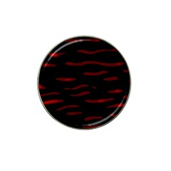 Red and black Hat Clip Ball Marker (4 pack)