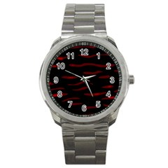 Red and black Sport Metal Watch