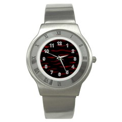 Red and black Stainless Steel Watch