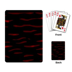 Red and black Playing Card