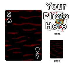 Red and black Playing Cards 54 Designs