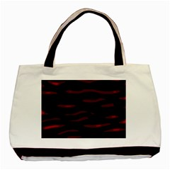 Red and black Basic Tote Bag