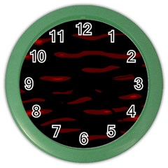 Red and black Color Wall Clocks