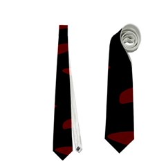 Red and black Neckties (Two Side)
