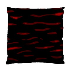 Red and black Standard Cushion Case (One Side)