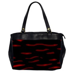 Red and black Office Handbags (2 Sides)