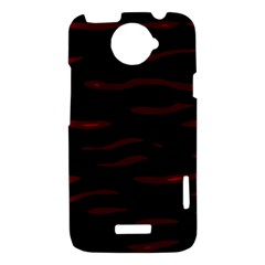 Red and black HTC One X Hardshell Case