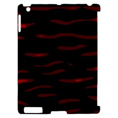 Red and black Apple iPad 2 Hardshell Case (Compatible with Smart Cover)