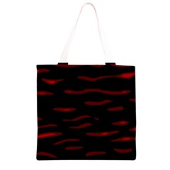 Red and black Grocery Light Tote Bag