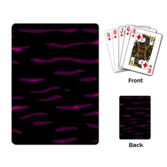 Purple and black Playing Card