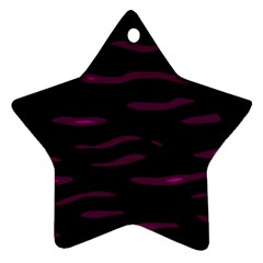 Purple and black Star Ornament (Two Sides)