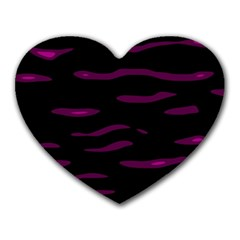 Purple and black Heart Mousepads