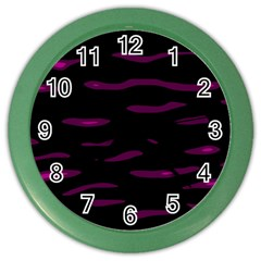 Purple and black Color Wall Clocks
