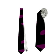 Purple and black Neckties (Two Side)