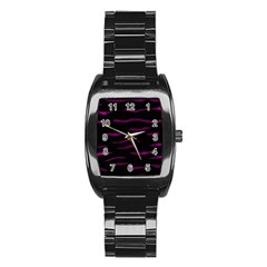 Purple and black Stainless Steel Barrel Watch
