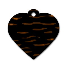 orange and black Dog Tag Heart (One Side)