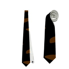 orange and black Neckties (Two Side)