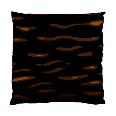 orange and black Standard Cushion Case (Two Sides)
