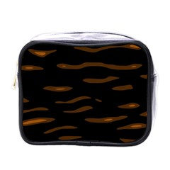 orange and black Mini Toiletries Bags