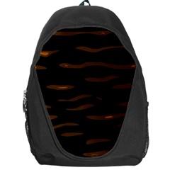 orange and black Backpack Bag
