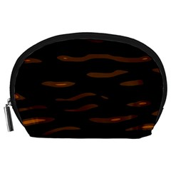 orange and black Accessory Pouches (Large)