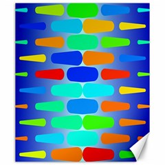 Colorful shapes on a blue background                                                                                       Canvas 20  x 24