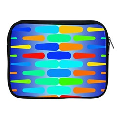 Colorful shapes on a blue background                                                                                      Apple iPad 2/3/4 Zipper Case