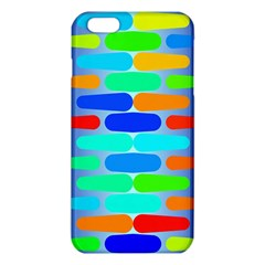Colorful Shapes On A Blue Background                                                                                      			iphone 6 Plus/6s Plus Tpu Case