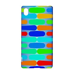 Colorful Shapes On A Blue Background                                                                                      			sony Xperia Z3+ Hardshell Case
