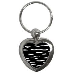 Black and white Key Chains (Heart)