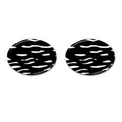 Black and white Cufflinks (Oval)