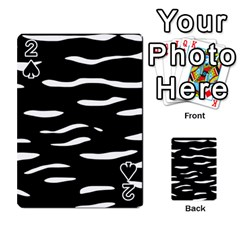 Black and white Playing Cards 54 Designs