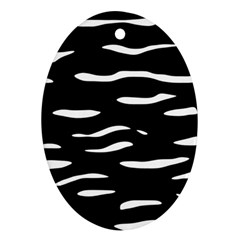 Black and white Oval Ornament (Two Sides)