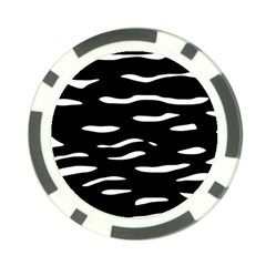 Black and white Poker Chip Card Guards