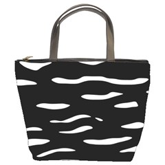 Black and white Bucket Bags