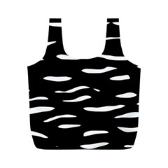 Black and white Full Print Recycle Bags (M)