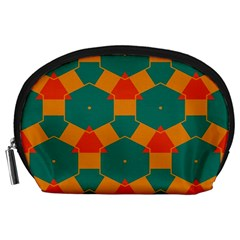 Honeycombs and triangles pattern                                                                                       Accessory Pouch