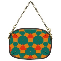 Honeycombs and triangles pattern                                                                                       Chain Purse (Two Sides)
