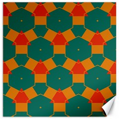 Honeycombs and triangles pattern                                                                                       Canvas 16  x 16