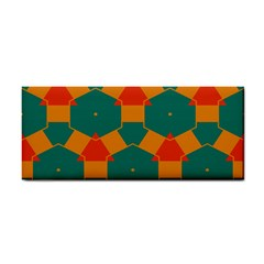Honeycombs and triangles pattern                                                                                       			Hand Towel