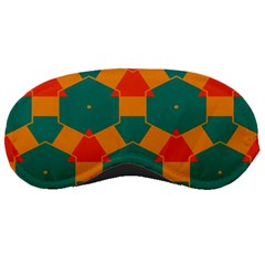 Honeycombs And Triangles Pattern                                                                                       sleeping Mask