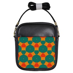 Honeycombs and triangles pattern                                                                                       Girls Sling Bag