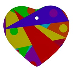 Colorful abstract design Ornament (Heart)