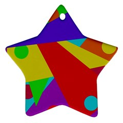 Colorful abstract design Ornament (Star)