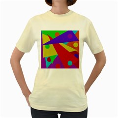 Colorful abstract design Women s Yellow T-Shirt